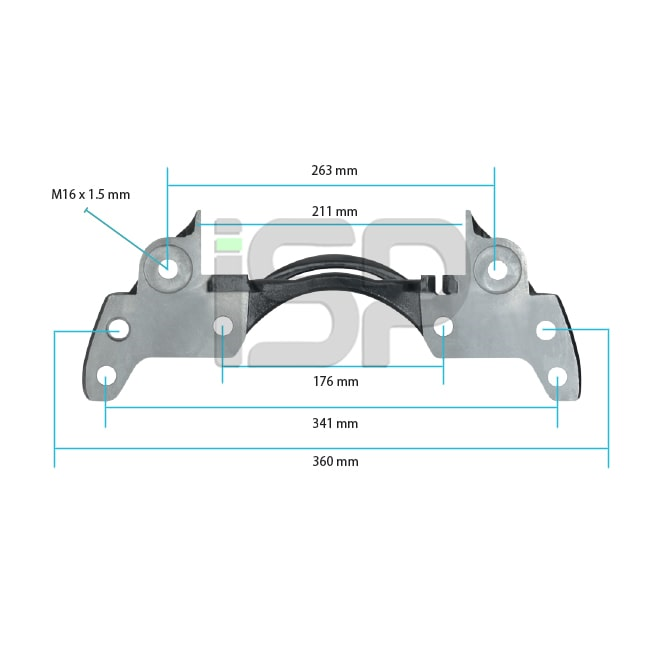 Caliper Carrier - Right - 19.5