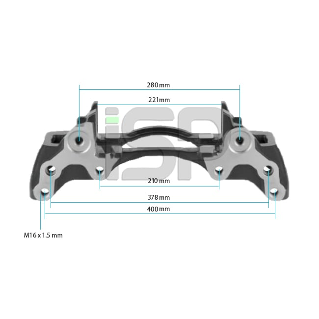 Caliper Carrier - Left -  22.5